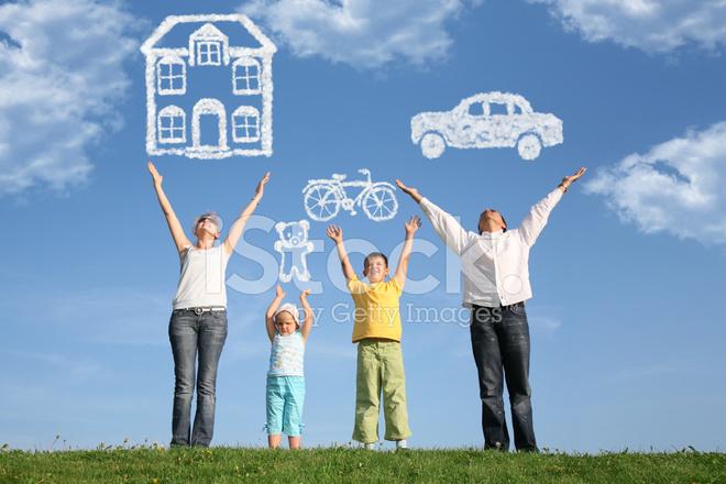 11464574-exuberant-family-of-four-celebrating-life